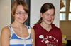 Unsere beiden tollen Helferinnen: Freiderike und Laura